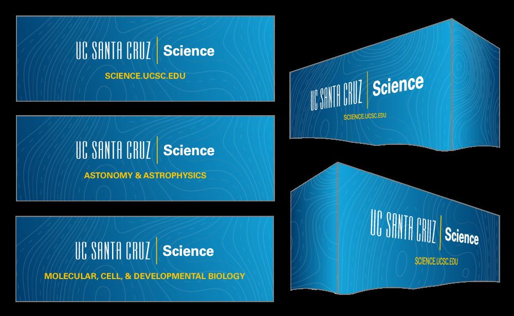 UC Santa Cruz Science tablecloth mockups